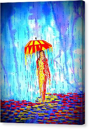 Stormy Mood 2 Canvas Print by Connie Valasco