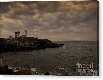 Stormy Nubble Canvas Print by Timothy Johnson