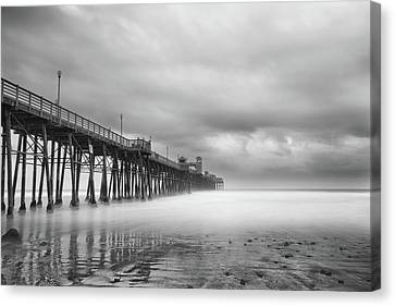 Stormy Oceanside Canvas Print by Larry Marshall