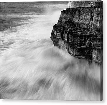 Canvas Print featuring the photograph Stormy Sea 1 by Pedro Cardona
