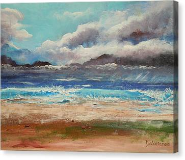 Stormy Shore Canvas Print by Dan Whittemore