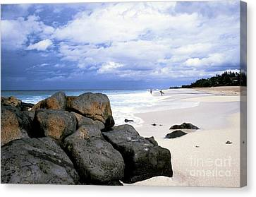 Stormy Sky Banzai Beach Canvas Print by Thomas R Fletcher