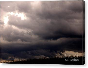 Stormy Sky Over Pasture Canvas Print by Thomas R Fletcher