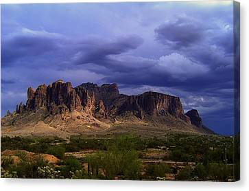 Stormy Superstition Canvas Print by Steven Clipperton