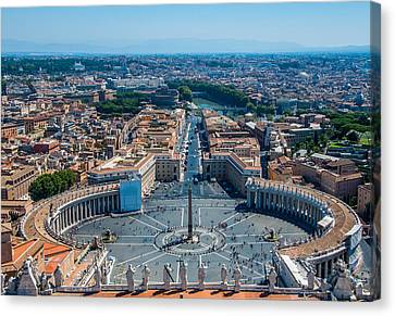 St.peter's Square And Part Of Rome Canvas Print