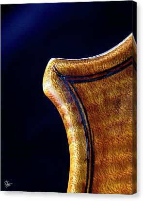 Canvas Print featuring the photograph Stradivarius Corner Closeup by Endre Balogh