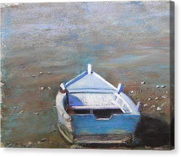Canvas Print featuring the painting Stranded by Cindy Plutnicki