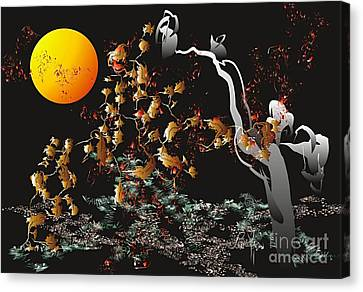 Canvas Print featuring the digital art Strange Autumn 2011  by Leo Symon