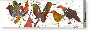 Strange Birds Canvas Print by Miindy Newman