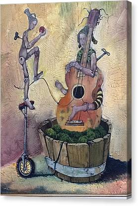 Strange Melody For A False Event Canvas Print by Carlos Rodriguez Yorde