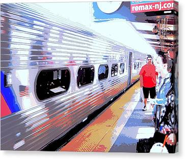 Strangers Almost On A Train Canvas Print by Don Struke
