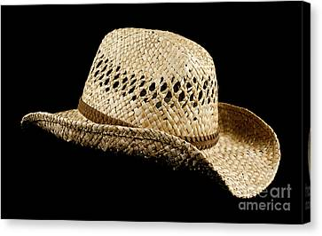 Straw Hat Canvas Print by Blink Images