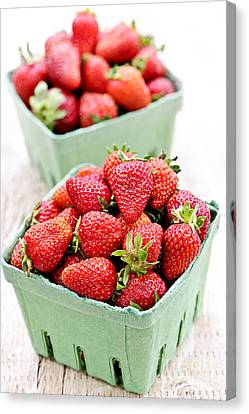 Strawberries Canvas Print by Elena Elisseeva