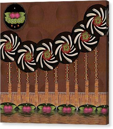 Seed Canvas Print - Strawberry And Flowers Pop Art by Pepita Selles