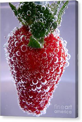 Dispence Canvas Print - Strawberry In Soda Water by Soultana Koleska
