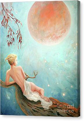 Strawberry Moon Nymph Canvas Print by Michael Rock