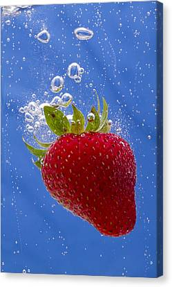 Strawberry Soda Dunk 3 Canvas Print by John Brueske