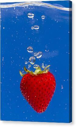 Strawberry Soda Dunk 6 Canvas Print by John Brueske