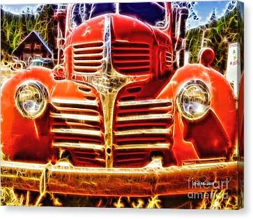 Strawberry Truck Canvas Print by Mo T