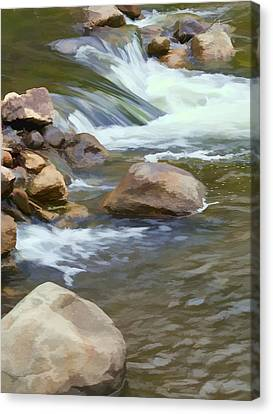 Canvas Print featuring the photograph Stream by John Crothers