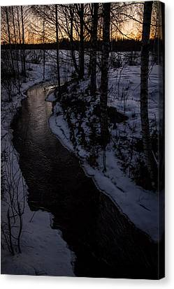 Canvas Print featuring the photograph Stream by Matti Ollikainen
