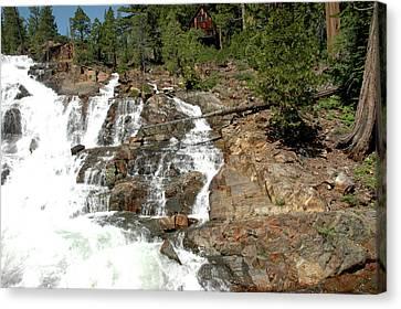 Streaming Glen Alpine Falls Canvas Print