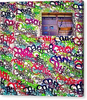 Street Art Canvas Print by Julie Gebhardt