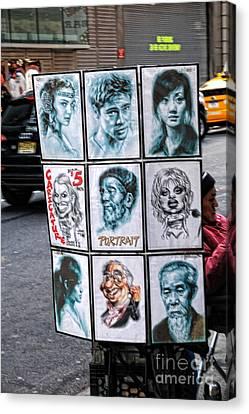 Street Art Nyc Canvas Print by Edward Sobuta