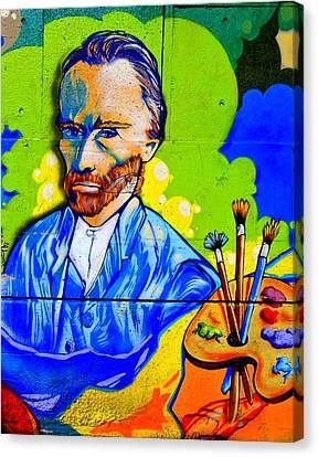 Street Art Van Gogh 1 Canvas Print by Randall Weidner