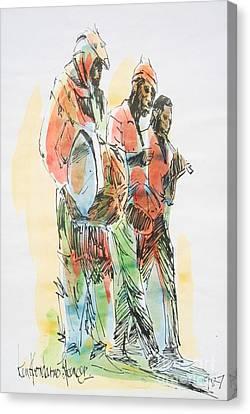 Haitian Canvas Print - Street Band by Carey Chen