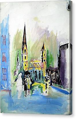Street Canvas Print by Ertan Aktas