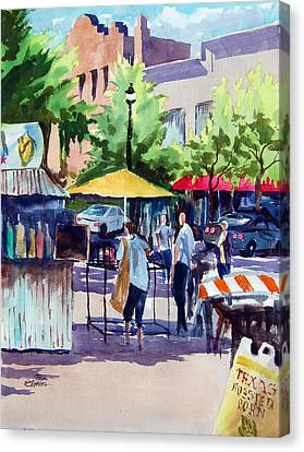 Street Fare Canvas Print by Ron Stephens