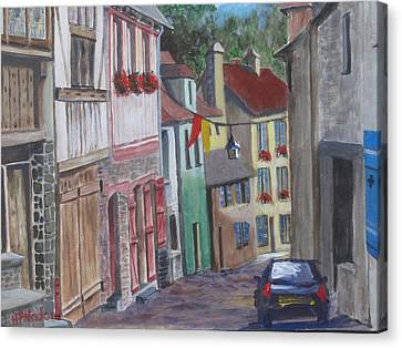 Street In Dinan Canvas Print