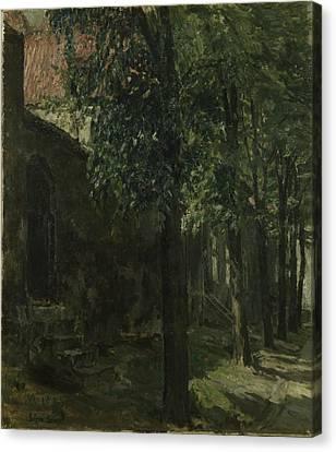 Street In Lubeck - Germany Canvas Print by Signe Scheel