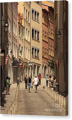 street in Lyon  Canvas Print