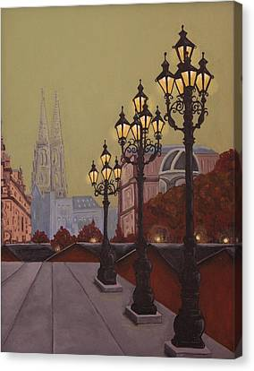 Street Lamps Canvas Print by Jennifer Lynch