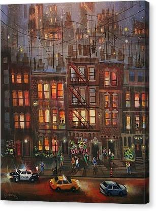 Fire Escape Canvas Print - Street Life by Tom Shropshire