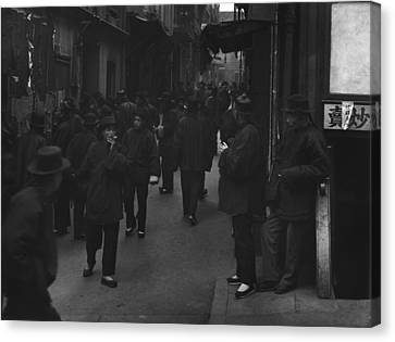 Street Of The Gamblers Ross Alley Canvas Print by Everett