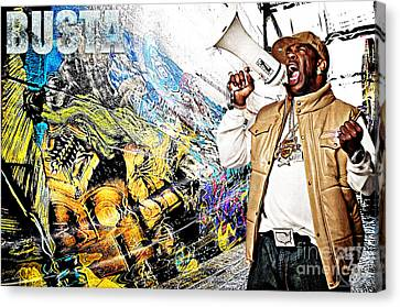 Street Phenomenon Busta Canvas Print by The DigArtisT
