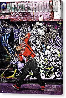 Rhythm And Blues Canvas Print - Street Phenomenon Chris Brown by The DigArtisT