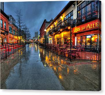 Street Reflections Canvas Print by Andre Faubert