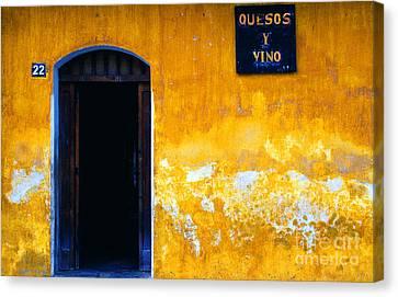Vino Canvas Print - Street Scene La Antigua by Thomas R Fletcher