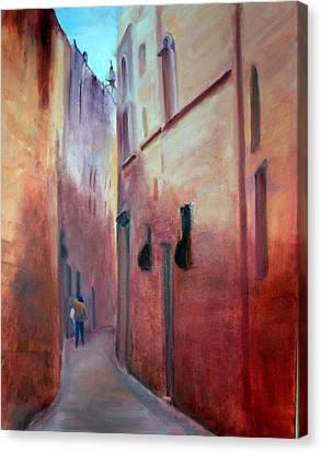 Street Scene  Malta Canvas Print by Rosemarie Hakim