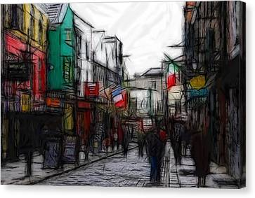 Streetlife Canvas Print by Steve K