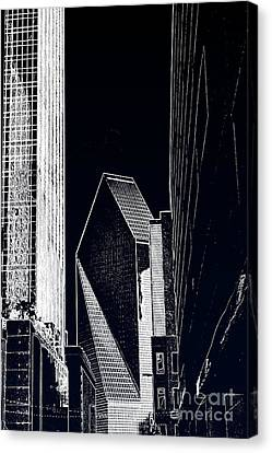 Canvas Print featuring the photograph Streets Of Dallas by Joe Finney