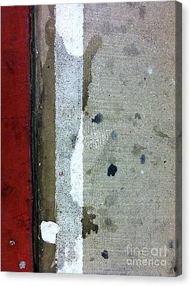 Streets Of New York Abstract Twelve Canvas Print by Marlene Burns