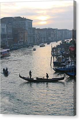 Streets Of Venice Canvas Print by Regina  Visconi