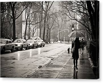 Streets Slick With Promise - Greenwich Village Canvas Print