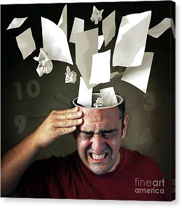 Frustration Canvas Print - Stressed by Carlos Caetano