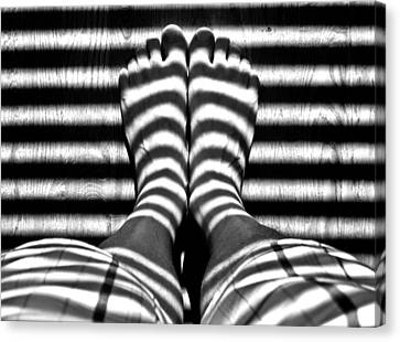 Stripe Socks? Canvas Print